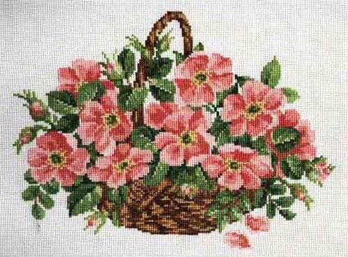 ideas de flores bonitas en punto de cruz