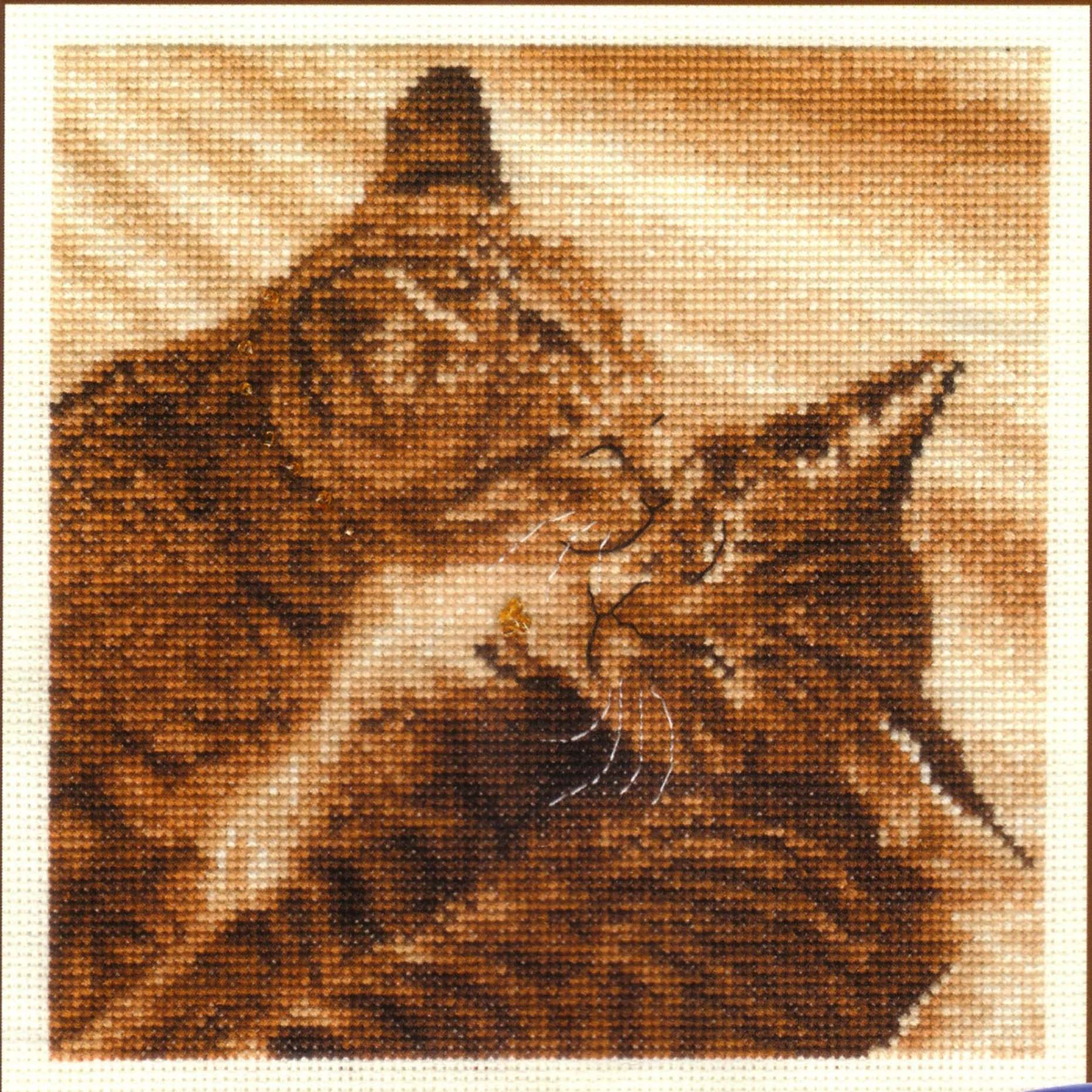 Como bordar gatos en punto de cruz