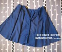 Como hacer una falda circular paso a paso