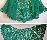 Como tejer un chal medio circulo a crochet