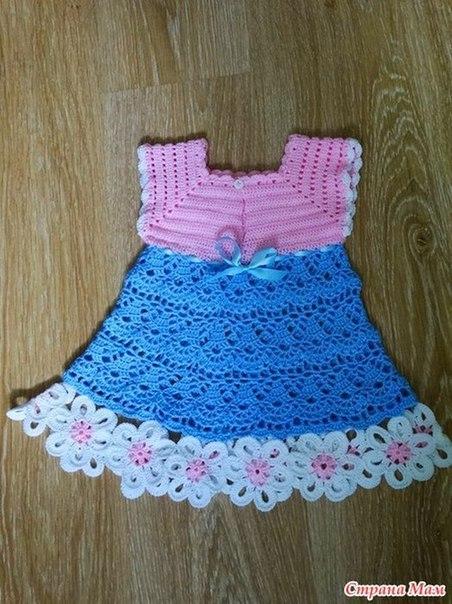 Vestidos tejidos a crochet para nina 2014