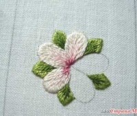Como bordar flores paso a paso