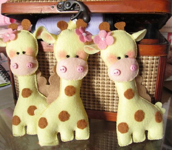 Moldes para hacer jirafas de fieltro