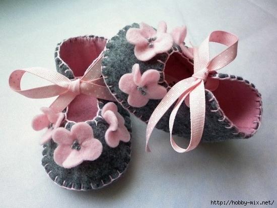 Como hacer sandalias de fieltro para bebe