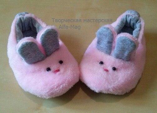 moldes hacer pantuflas conejitos para bebes01