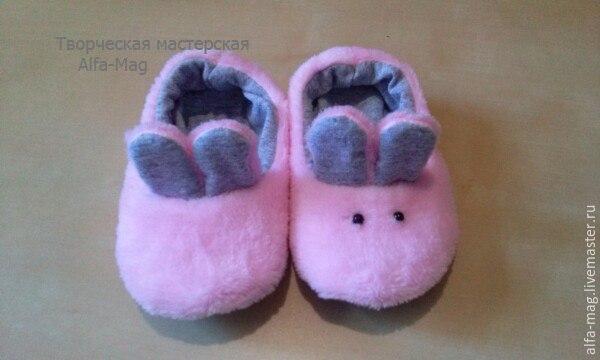moldes hacer pantuflas conejitos para bebes05