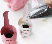 Como hacer macetas de gatos con material reciclable (pet)