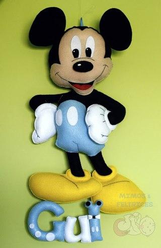 Como hacer titeres de mickey y minnie mouse