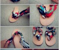 Aprende a rediseñar unas sandalias con una bufanda