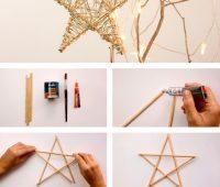 Cómo hacer una estrella de madera para decorar nuestro hogar