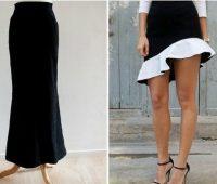 Cómo transformar una falda larga