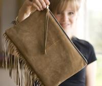 Como hacer un bolso con flecos
