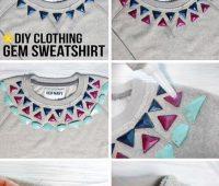 Decorar un suéter con pedrería