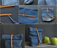 Cómo hacer un bolso con un viejo jean