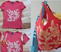 Como transformar una camiseta en un bolso para las compras