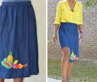 Como hacer faldas asimétricas preciosas con viejas faldas largas